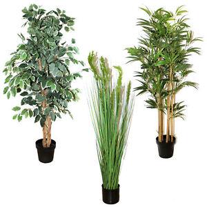 KUNSTPFLANZE-im-TOPF-ca-120-cm-Kunstblume-kuenstliche-Pflanze-Ficus-Bambus-cf