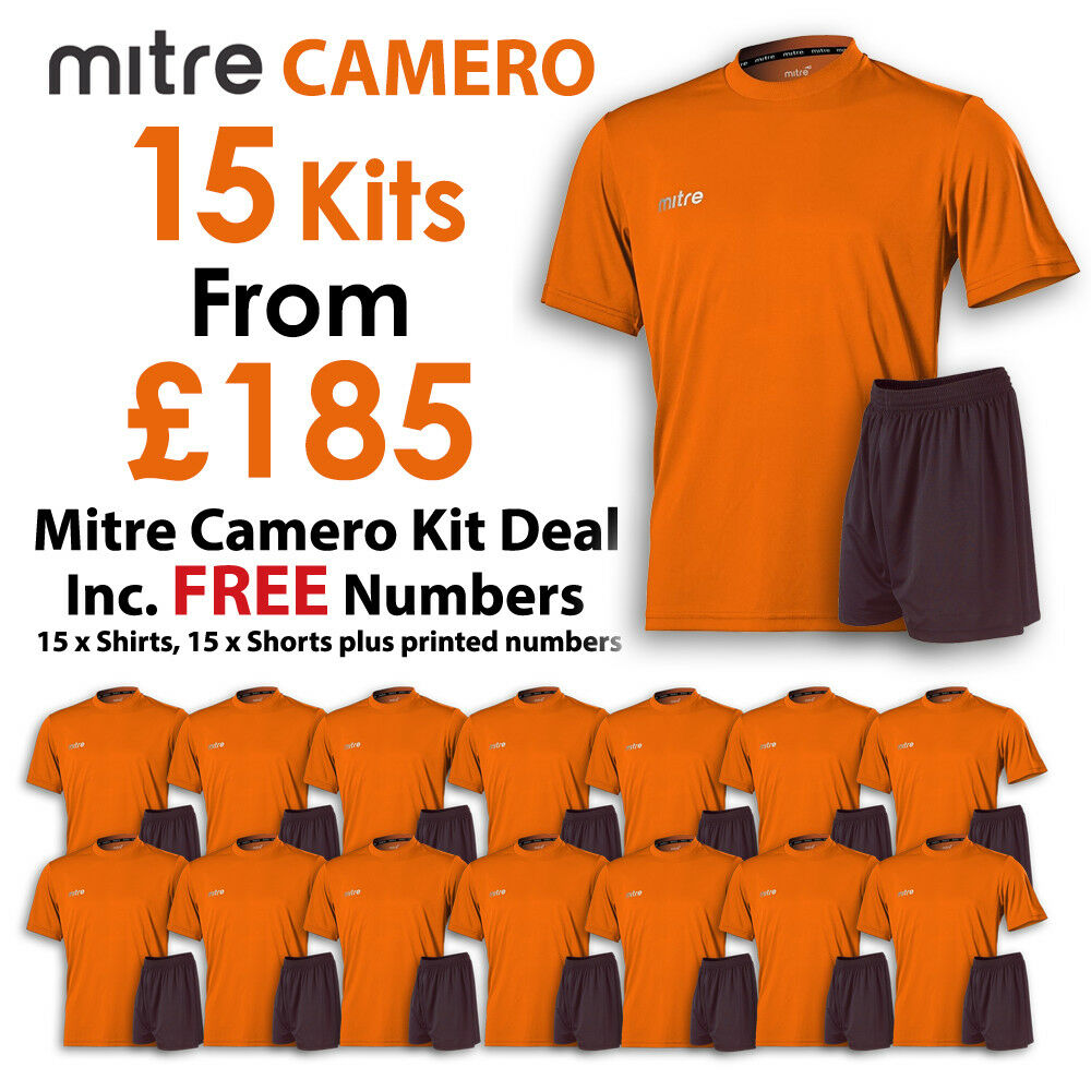Mitre Camero 15 Football Kit Deal - orange - Includes FREE Numbers