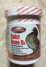 """new""pigeonaid Calci Bone D3 With Phosphorus 150 Tablets for Pigeons"