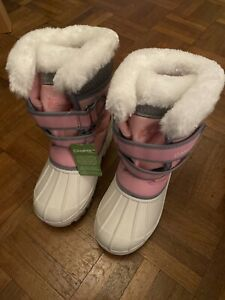 junior Blue//Pink Campri Boys//Girls Snow Boots  Insulated Winter boots