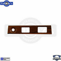 69 Camaro Dash Panel Headlight Wiper Defroster Power Top Rosewood Plate Insert