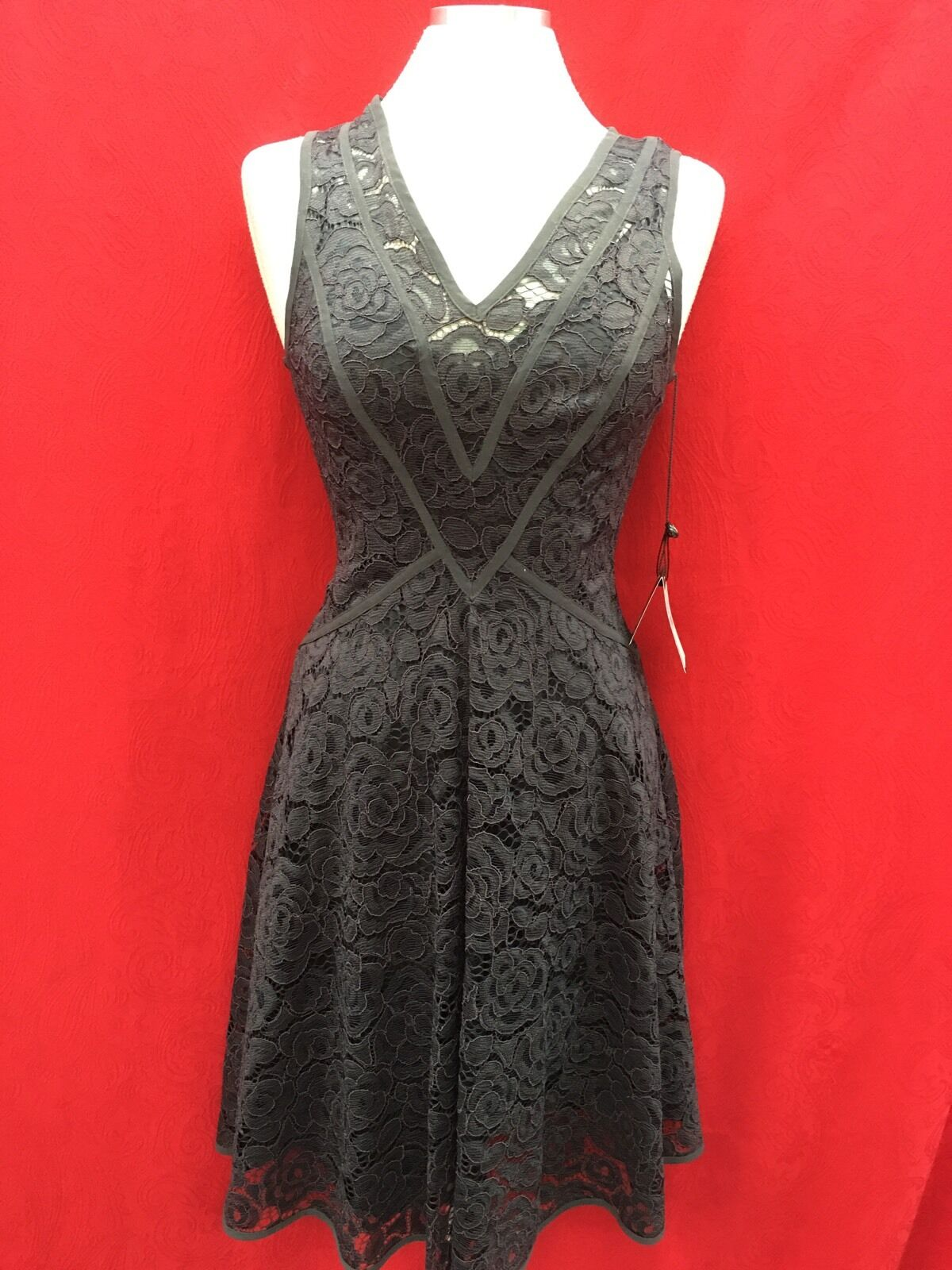 ADRIANNA PAPELL DRESS LACE DRESS NEW WITH TAG SIZE 10 LINED RETAIL LENGTH 40