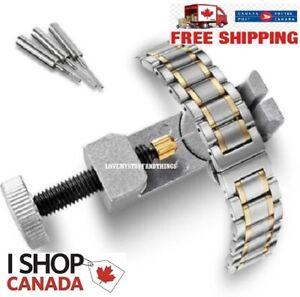 Metal-Adjustable-Watch-Band-Strap-Bracelet-Link-Pin-Remover-Repair-Tool-Kit-New