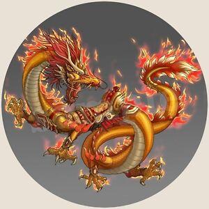 Dragon Chinois Decoration Gateau Disque Azyme Comestible Anniversaire 20cm