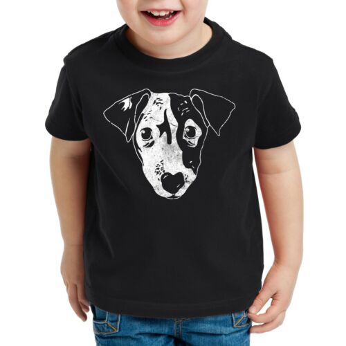 Dog Kinder T-Shirt Hund Haustier Tier jack russel terrier Hundegesicht kopf top