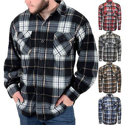 Da Uomo Lumberjack Pulsante di controllo qualità caldo camicia stile M-6XL