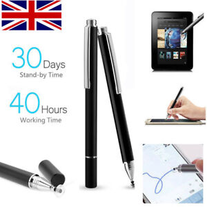 2 IN1 Thin Tip Capacitive TouchScreen Pen Stylus for iPad iphone X XS 8 Samsung