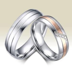 2 Partnerringe Trauringe Hochzeit Verlobung Ehe Ringe Edelstahl