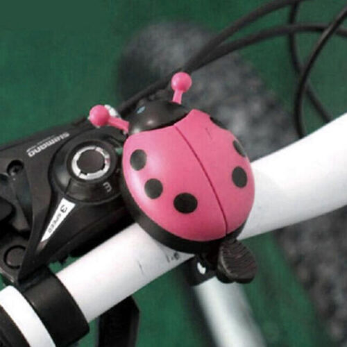 1PC Kids Beetle Ladybug Ring Bell For Cycling Bicycle Bike Ride Horn Alarm