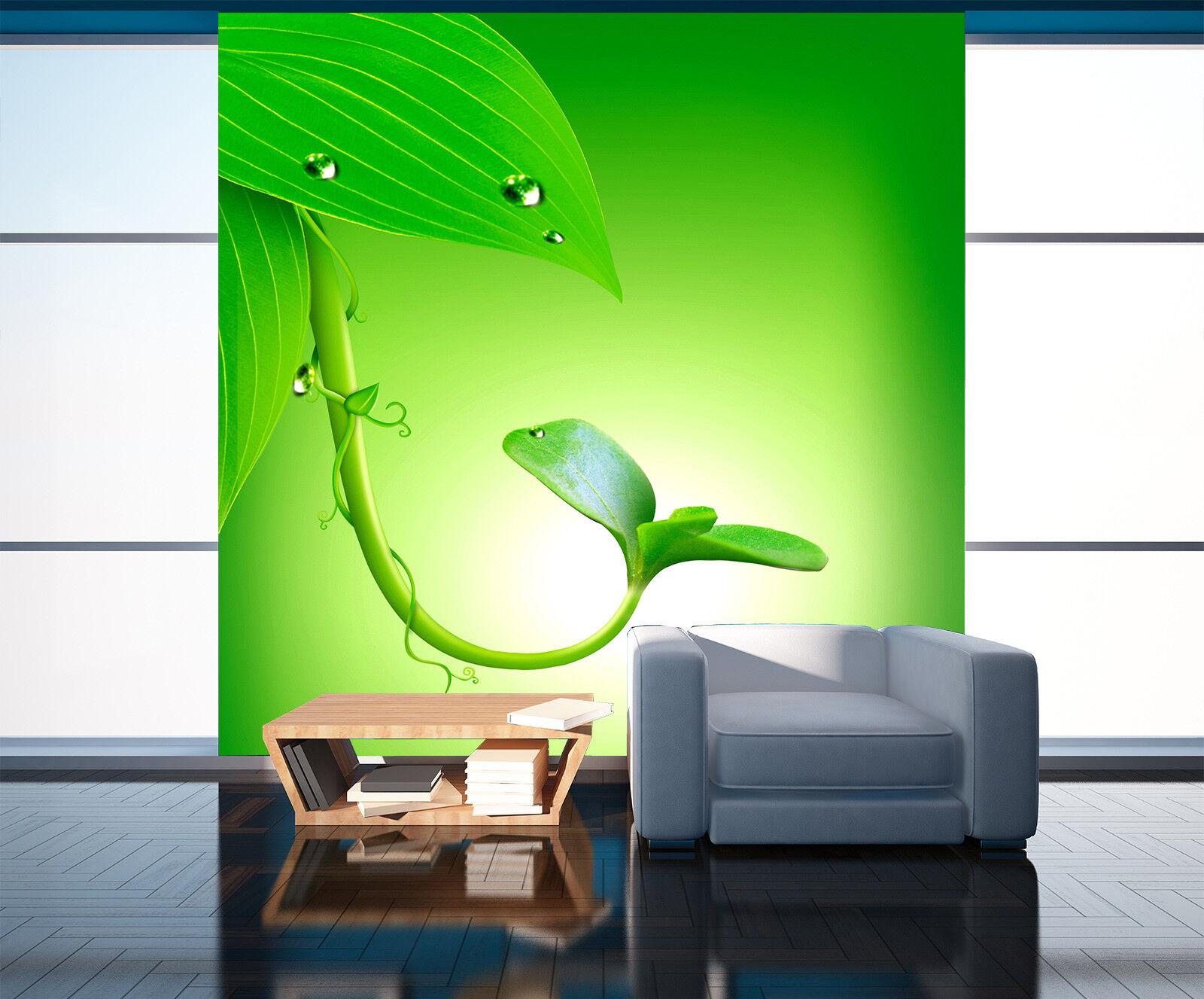 3D Green Bean Sprout 8 Wall Paper Murals Wall Print Wall Wallpaper Mural AU Kyra