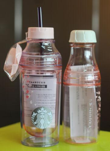 Pink Sunny Water Bottle SET Korea Starbucks 2016 Cherry blossom Lena Cold Cup