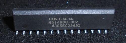 zigzag 28 PIN ZIP 512 KB x 8 OKI m514800-80z la memoria RAM CHIP 2Mbit