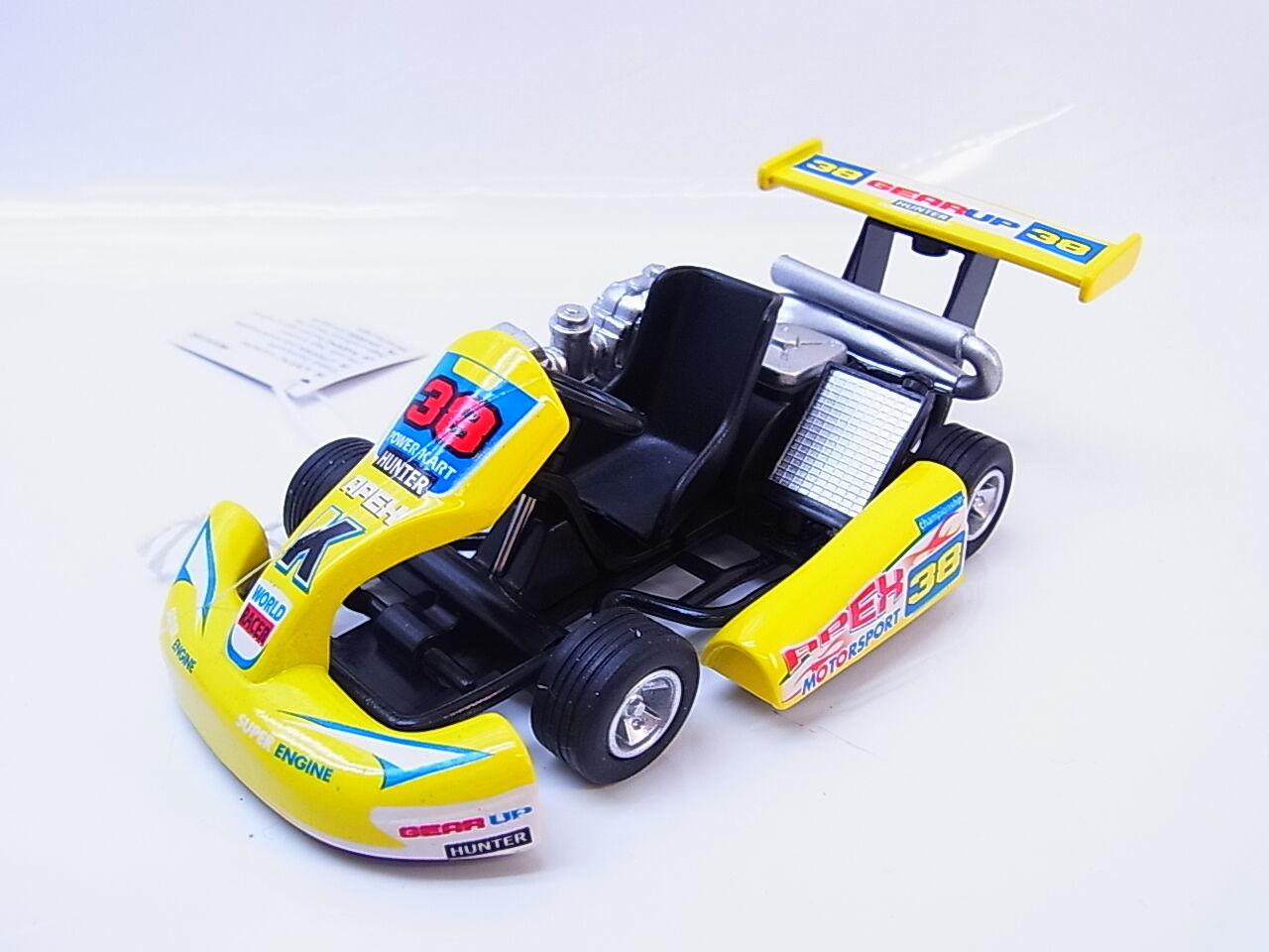 LOT 13955 Turbo Go Kart yellow Modellauto 1 18 Geschenk Power Kart Die-Cast NEU