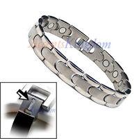 Accents Kingdom Men's Tempo Magnetic Power Titanium Golf Bracelet T15