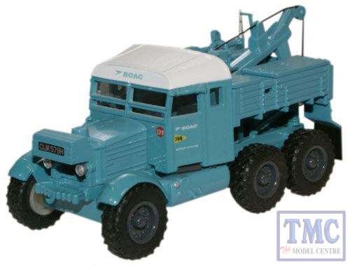 Pioneer Recovery Tractor 76SP002 Oxford Diecast 1:76 Scale OO Gauge B.O.A.C