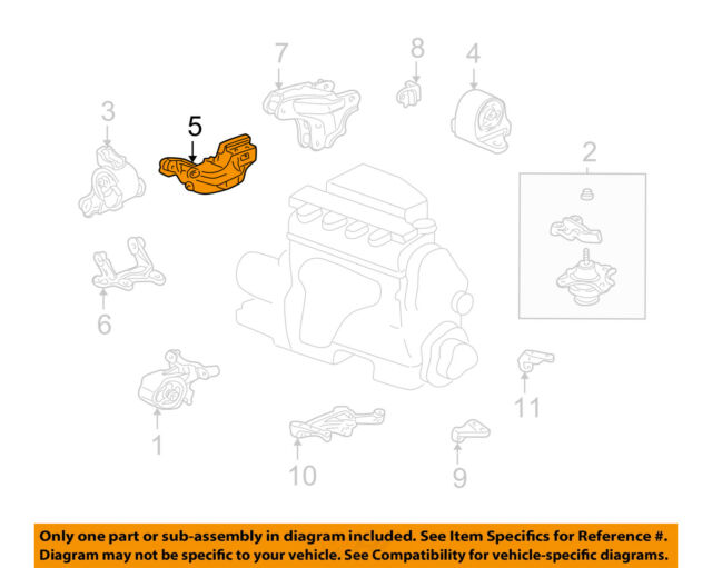 honda oem 01-04 civic engine motor & transmission-mounting bracket  04111plc305
