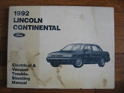 1992 Lincoln Continental Wiring Diagram Service Electrical ...