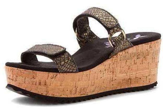 Nuevo En Caja  179 179 179 Helle Comfort Kayla Negro Serpiente Sandalias Tacones Metálico Para Mujer 41 10 M  servicio honesto