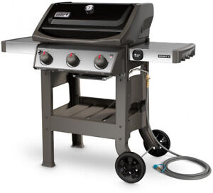 Weber Natural Gas Bbq.Details About Natural Gas Bbq Grill 3 Burner Weber Spirit Ii E 310 Thermometer Black Cart