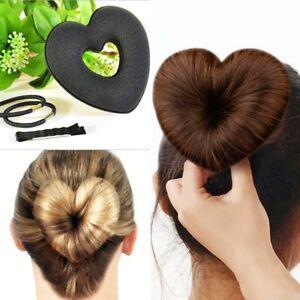 Duttkissen Herz Hair Bun Dutt Knotenkissen Donut Frisurenhilfe