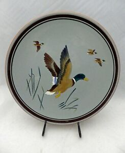 Stangl-Pottery-Game-birds-Mallard-large-Serving-plate-11-3-8-034-wide-EUC