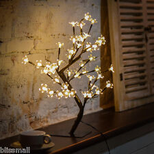 LED Cherry Blossom Desk Bonsai Tree Light Table Fairy Twig Lamp Light Xmas Decor