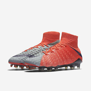 Nike Hypervenom Phantom 3 DF FG WMNS Soccer Cleats Grey Orange Melon ... 753faa0092