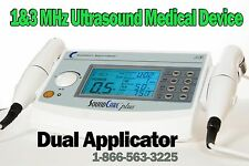 Current Solutions SoundCare Plus Ultrasound Therapy 2 Sound Heads 1-3 Mhz DQ9275
