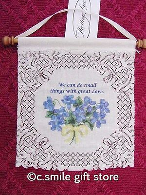 """Heritage Lace *Do Small Things w/Great Love* Wall Hanging 8"""" x 7.5"""" Off White"""