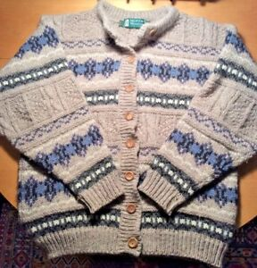 a Taglia scozzese in maglia Woollens Cardigan medio lavorato lana Maglione Moffat xRZCnwqg