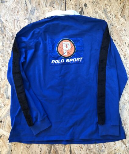 Vintage 90s Polo Sport Rugby Shirt Pwing XXL Vtg P