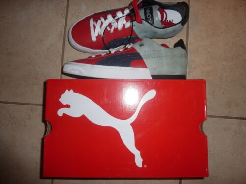 PUMA MMQ HIGH RISK RED Gray New Navy Tennis Shoes US NIB