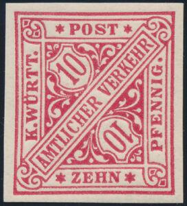 WURTTEMBERG-MiNr-203-b-P-U-tadellos-postfrisch-gepr-Winkler-Mi-70