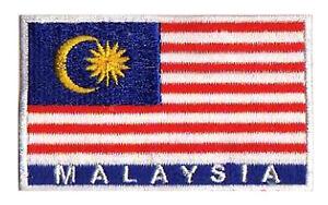 Écusson patche patch Malaisie 45x30 mm brodé thermocollant