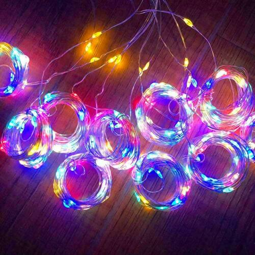 300LED USB Curtain Lamp Fairy String Lights Wedding Party Decor w//Remote Control