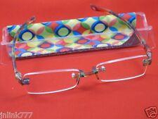 114:NEW Essentials Unisex Compact Reading Eyeglasses+Case-2.00