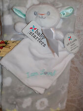BLANKET & SECURITY SHEEP I AM LOVED WHITE LOT 2 BABY STARTERS LAMB STAR MOON GRA