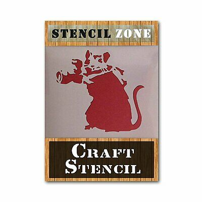 Banksy Mouse Mylar Airbrush Painting Wall Art Stencil A1 Size Stencil - XLarge