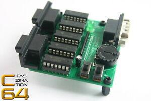 Faszination-C64-Joyport-Umschalter-Switcher-mit-Dauerfeuer-Commodore-64-1970