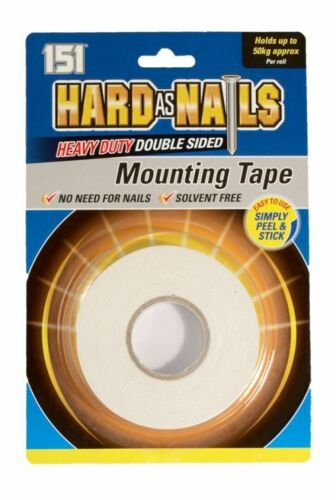 B4U Hard As Nails Heavy Duty Double Sided Mounting Tape 24mm x 5M
