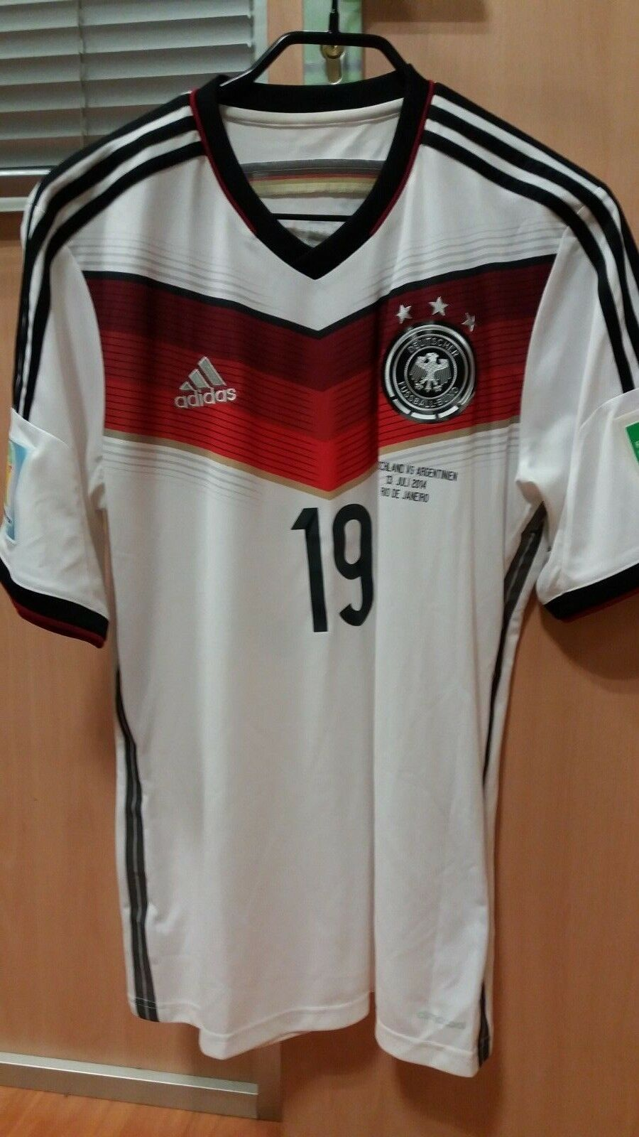 GERMANY DFB ADIDAS WORLD CUP FINAL 2014 GOTZE SHIRT