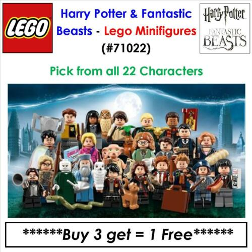 Lego Harry Potter & Fantastic Beasts Minifigures Buy 3 - Get 1 Free 71022