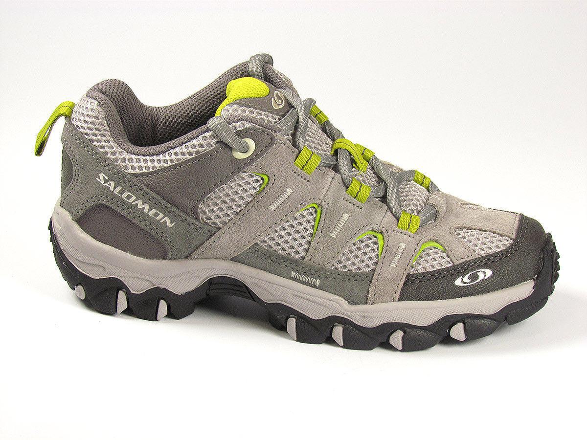 Leather, W, Aero Salomon schuhe Trekking schuhe Hiking grau
