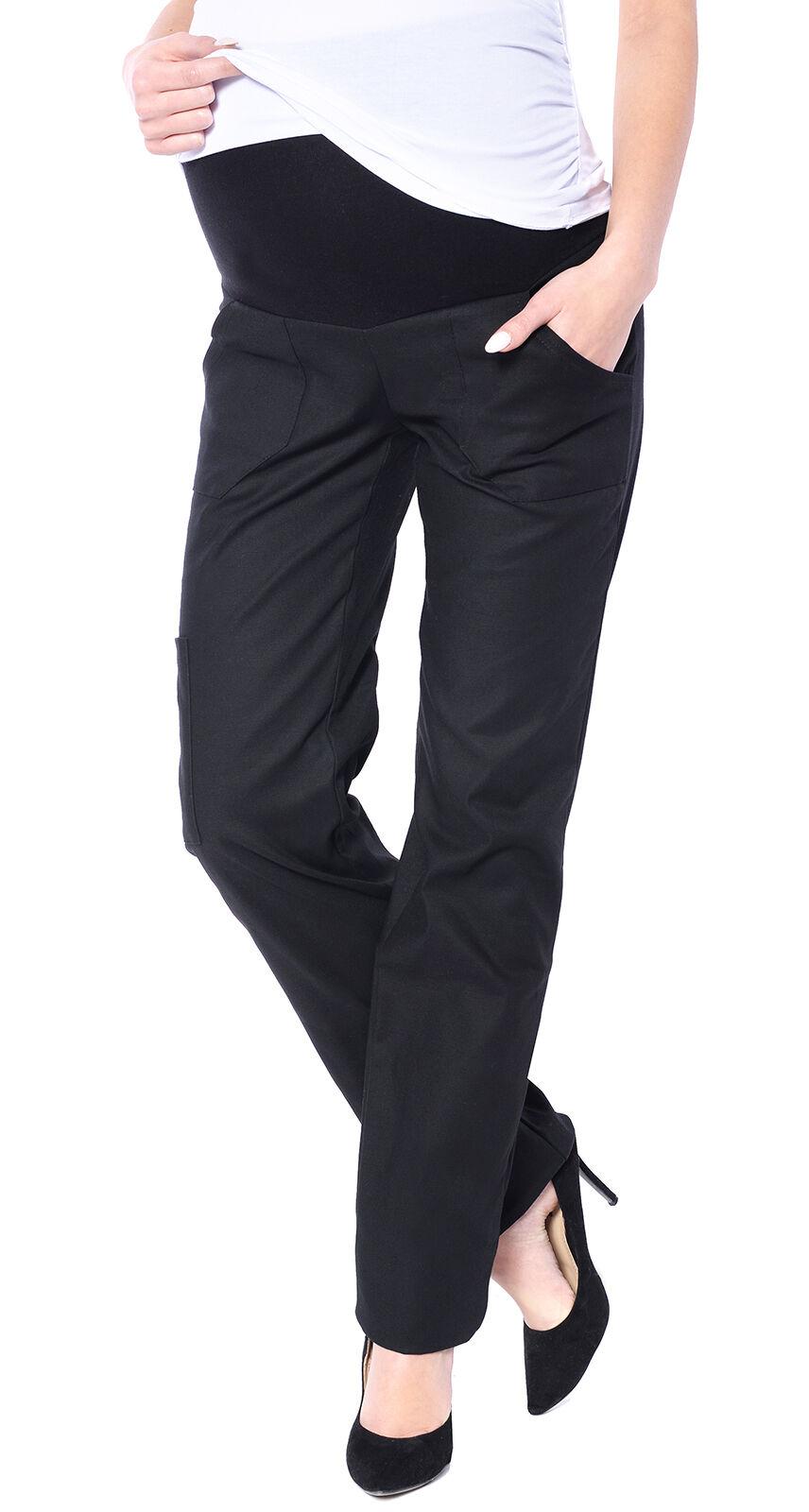 99328a8dd80eb Mija - Maternity Comfortable Trousers Cargo Over Bump 3017 12 Black ...