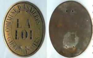 Plaque De Métier - Asnieres (s Et O) Garde-messiers D=106x80 Mm Wvt7qudx-08000628-257505821