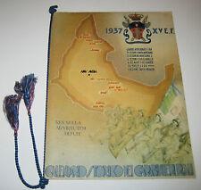 CALENDARIO STORICO DEI CARABINIERI REALI 1937 prima edizione originale d'epoca