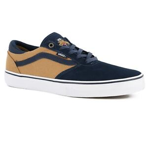 Vans Gilbert Crockett Pro Navy Tan Skate Shoes MEN S 6.5 WOMEN S 8 ... dfb765833b