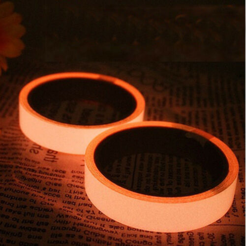 1m Self Adhesive Glow In The Dark Tape Photoluminescent Luminous De zg