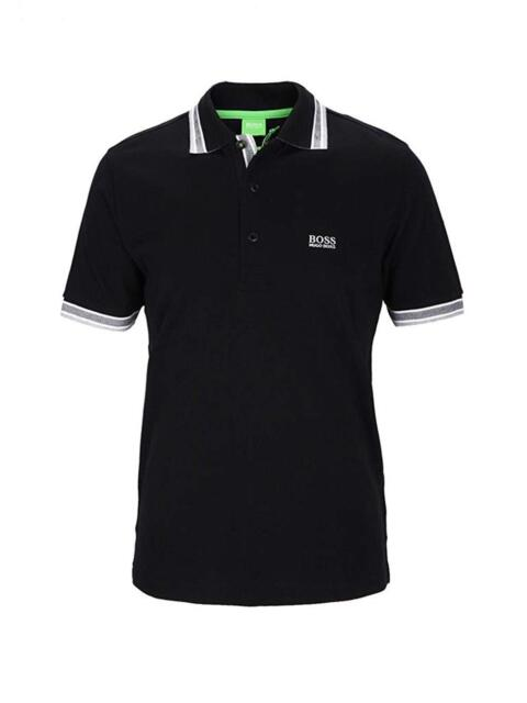 Hugo Boss Green Label Paddy Regular Fit Cotton Polo Shirt Black Size ... dac8ae585