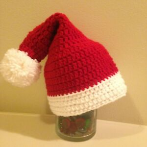 Crochet Christmas Hats Adults.Details About Crochet Santa Hat